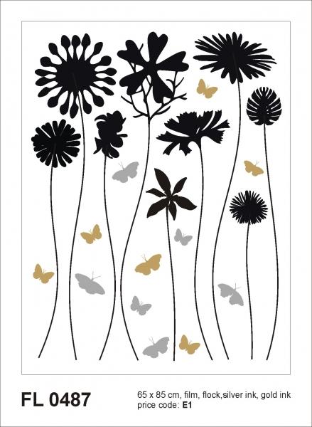 Sticker decorativ FL0487 Flori & Fluturi 0