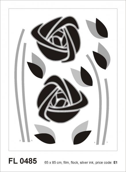 Sticker decorativ FL0485 Trandafiri abstracti 0