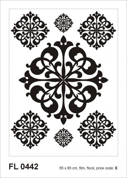 Sticker decorativ FL 0442 Ornament din catifea 0