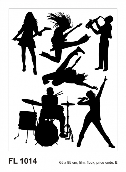 Sticker decorativ FL1014 Rock & Roll 0