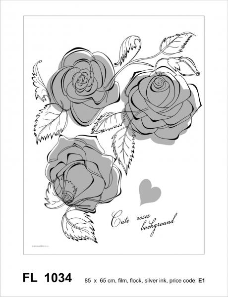 Sticker decorativ FL1034 Trandafiri