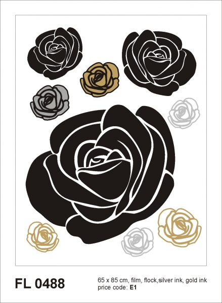 Sticker decorativ FL0488 Trandafiri 0