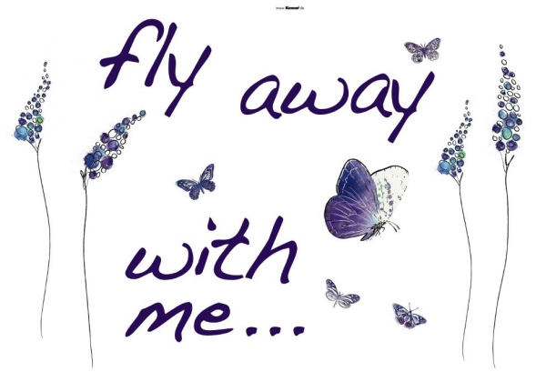 Sticker decorativ 17719 Fly away 1