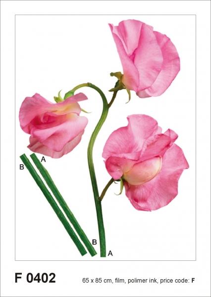 Sticker decorativ F0402 Floare roz 0