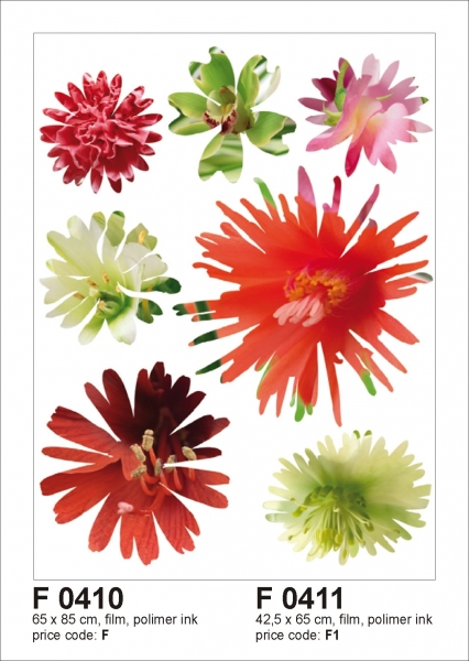 Sticker decorativ F0410 Flori colorate