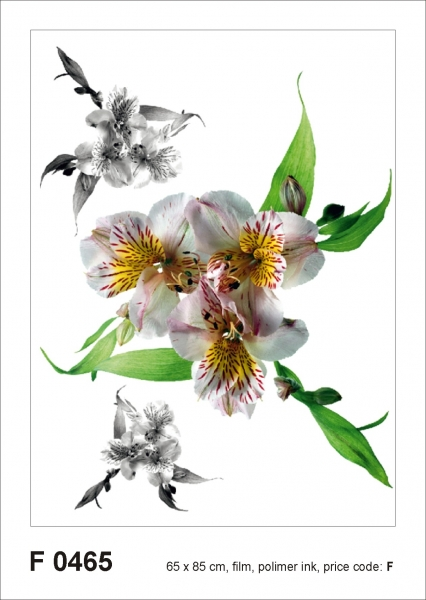 Sticker decorativ F0465 Flori albe