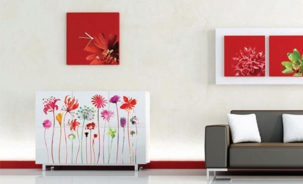 Sticker decorativ F0444 Flori de camp 1