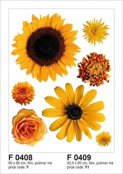 Sticker decorativ F0409 Flori galbene 0