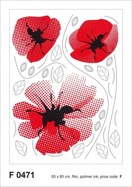 Sticker decorativ F0471 Maci rosii 0
