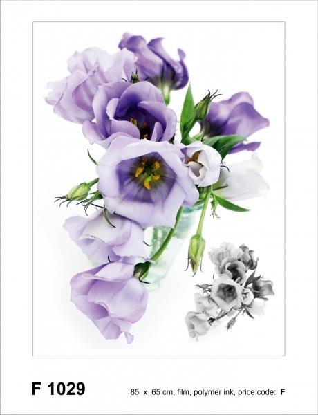Sticker decorativ F1029 Flori mov 0