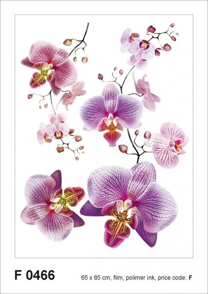 Sticker decorativ F0466 Orhidee roz