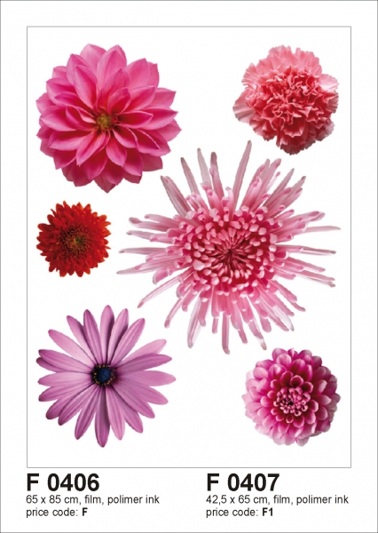 Sticker decorativ F0406 Flori violet