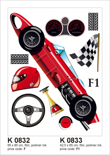 Sticker decorativ K0833 Formula 1 0