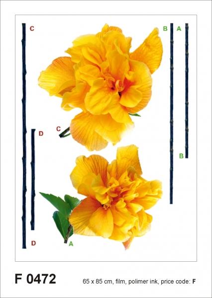 Sticker decorativ F0472 Garoafe galbene
