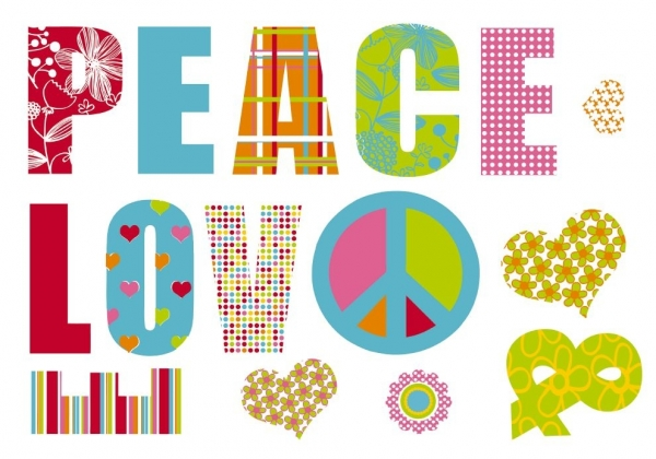 Sticker decorativ 17718 Love & Peace 1