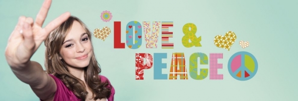 Sticker decorativ 17718 Love & Peace 0