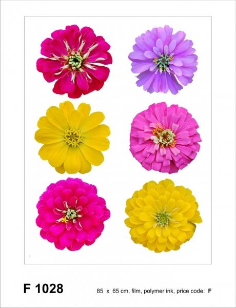 Sticker decorativ F1028 Flori colorate