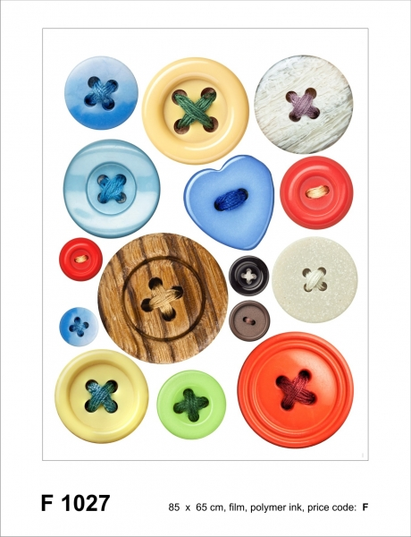 Sticker decorativ F1027 Nasturi colorati