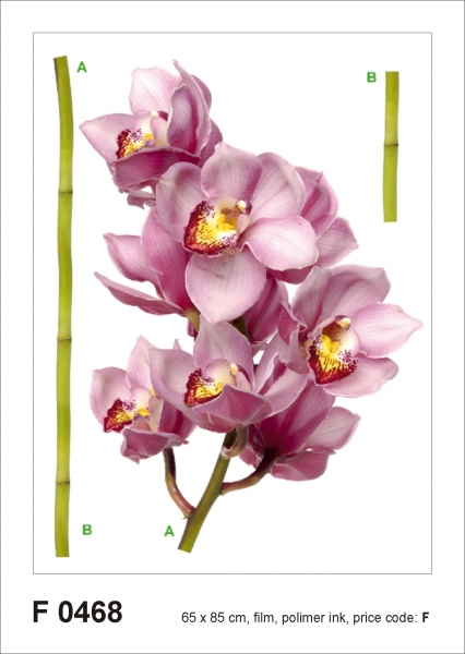 Sticker decorativ F0468 Orhidee violet 0