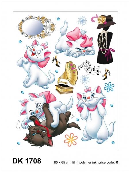 Sticker decorativ DK1708 Pisicute