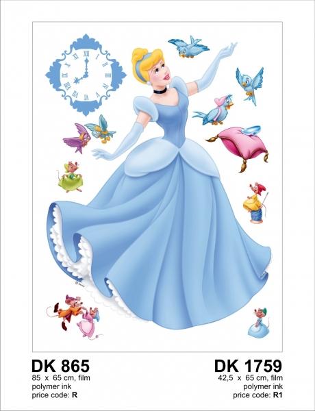 Sticker decorativ DK1759 Printesa Cenusareasa