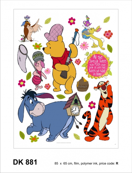 Sticker decorativ DK881 Winnie the Pooh