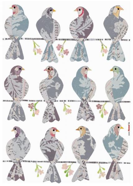 Sticker decorativ 17025 Porumbei 1