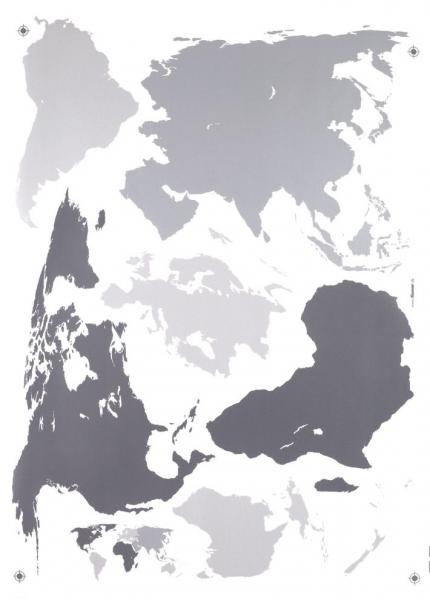 Sticker decorativ 17021 Harta Lumii 1