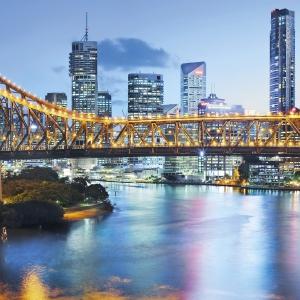 Fototapet XXL2-010 Peisaj urban Brisbane1