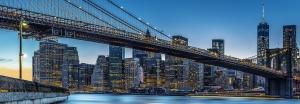 Fototapet 00863 Blue Hour over NY0