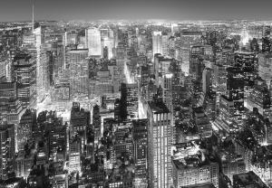 Fototapet 00956 New York - alb negru0