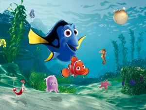 Fototapet FTDxxl 2202 Nemo & Dory0