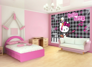 Fototapet 458 P4 Hello Kitty Rock1