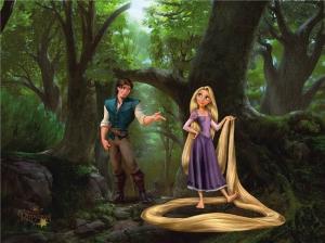 Fototapet FTDxxl 0244 Rapunzel & Flynn Rider