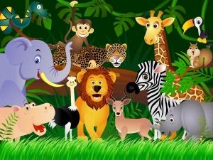 Fototapet FTS 1307 Animalele junglei0