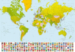 Fototapet 00280 Harta politica a lumii0