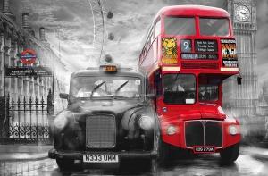 Fototapet 00698 Taxi si autobus in Londra0