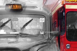 Fototapet 00698 Taxi si autobus in Londra1