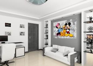 Fototapet FTDm 0284 Mickey, Minnie si Pluto1