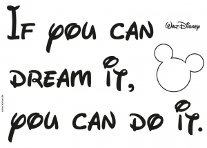 Sticker decorativ 14002 You can do it1