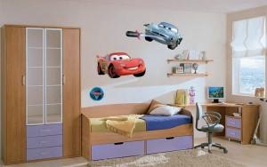 Sticker decorativ DK885 Fulger McQueen & McMissile