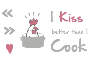 Sticker decorativ 17801 Kiss & Cook1