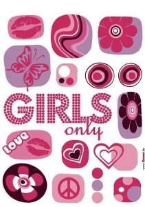 Sticker decorativ 17006 Girl's Only1