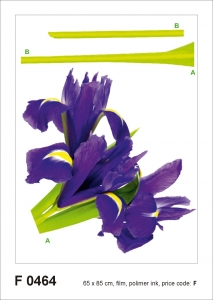 Sticker decorativ F0464 Iris violet