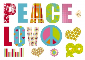 Sticker decorativ 17718 Love & Peace1