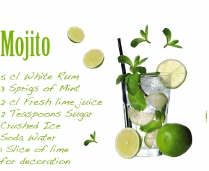 Sticker decorativ 17708 Mojito1