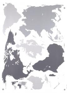 Sticker decorativ 17021 Harta Lumii1