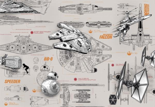 Fototapet 8-493 STAR WARS Blueprints