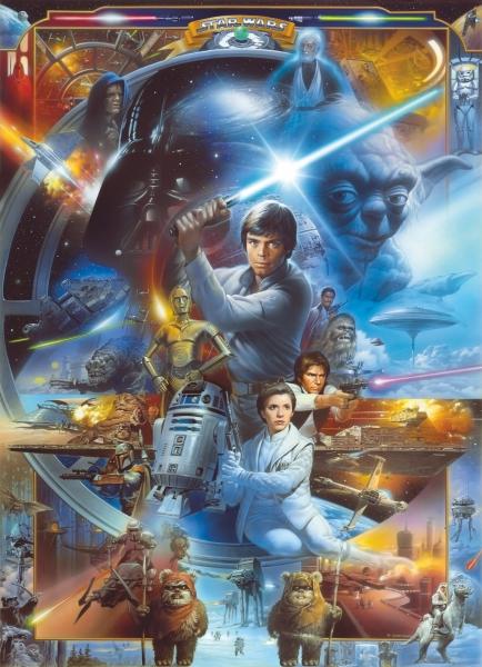 Fototapet 4-441 STAR WARS Luke Skywalker Collage