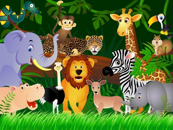 Fototapet FTS 1307 Animalele junglei